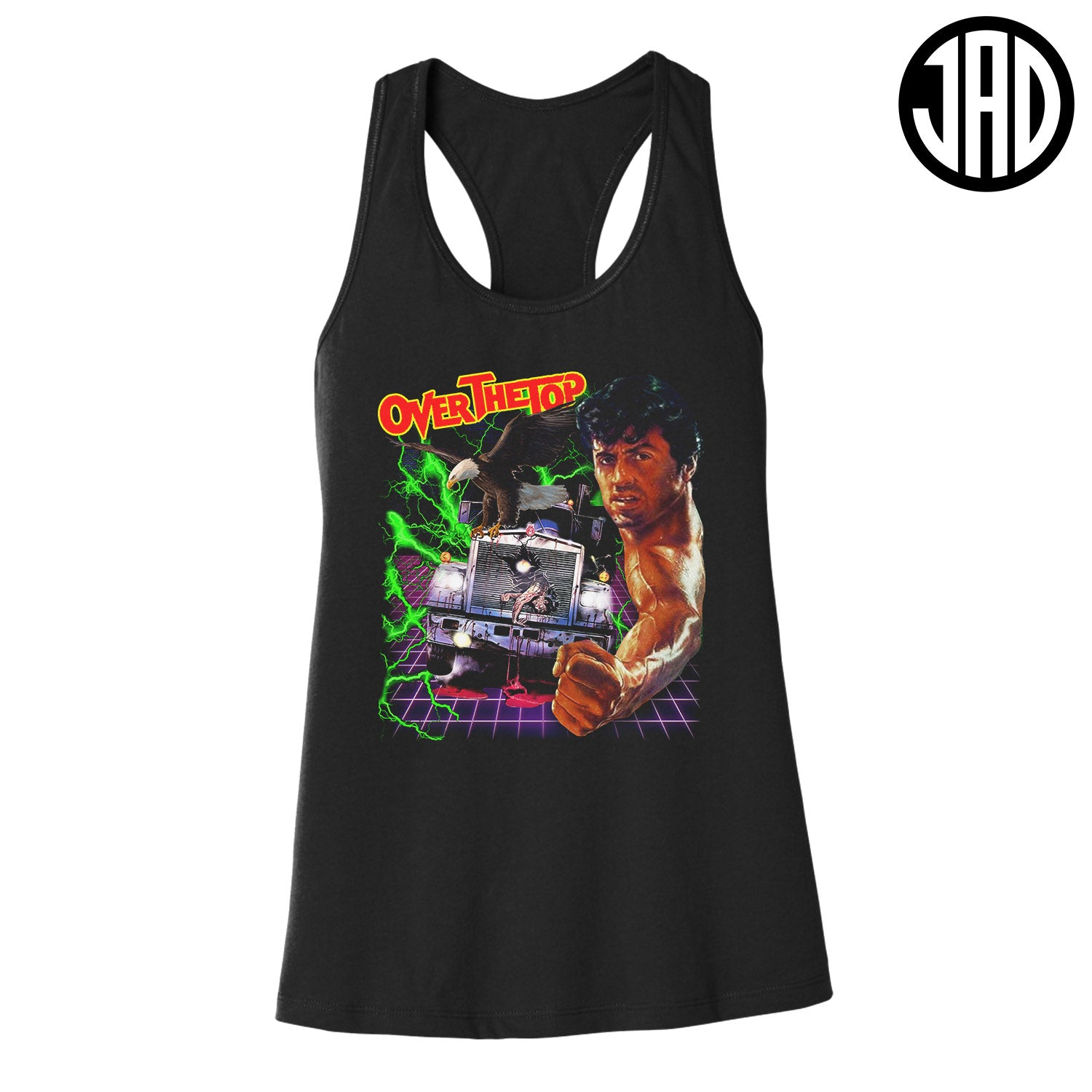 Over The Top - Women's Racerback Tank