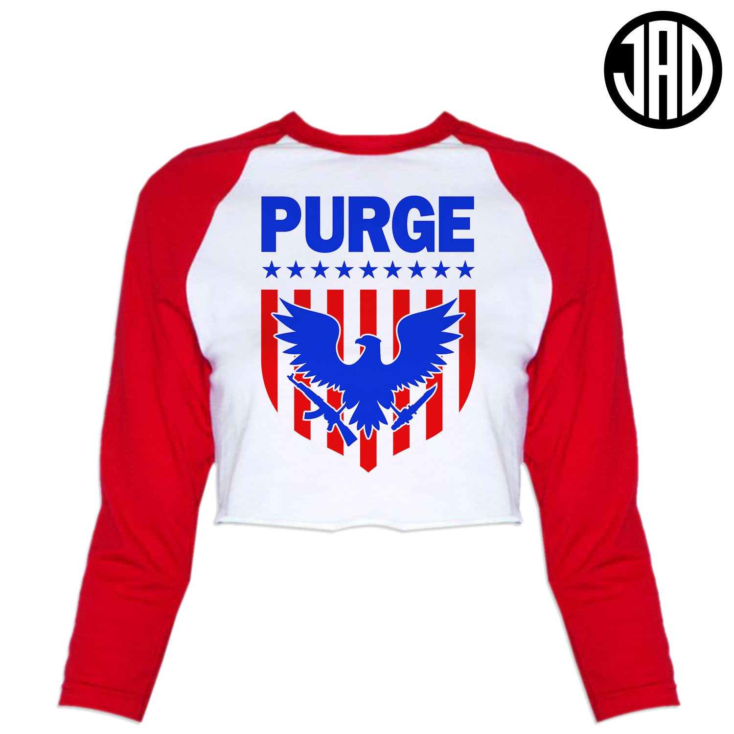 Purge Shield - Women's Cropped Baseball Tee