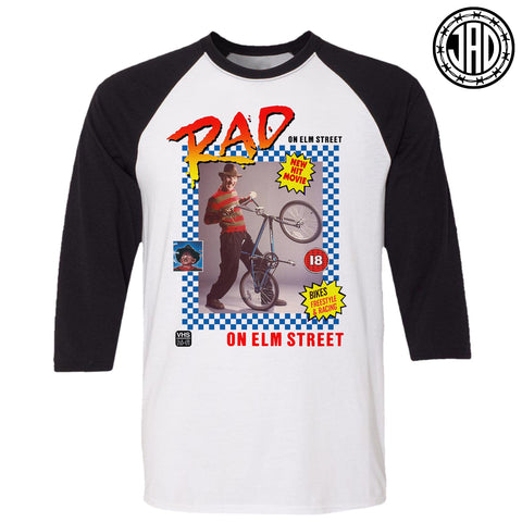 Rad On Elm Street - Men's (Unisex) Baseball Tee