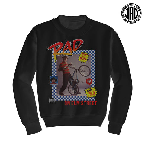 Rad On Elm Street - Mens (Unisex) Crewneck Sweater