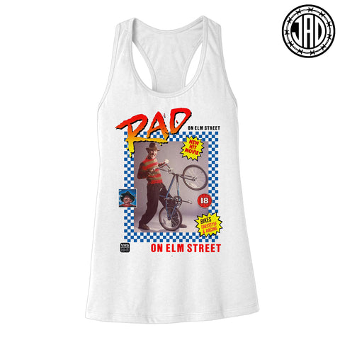 Rad On Elm Street - Women's Racerback Tank