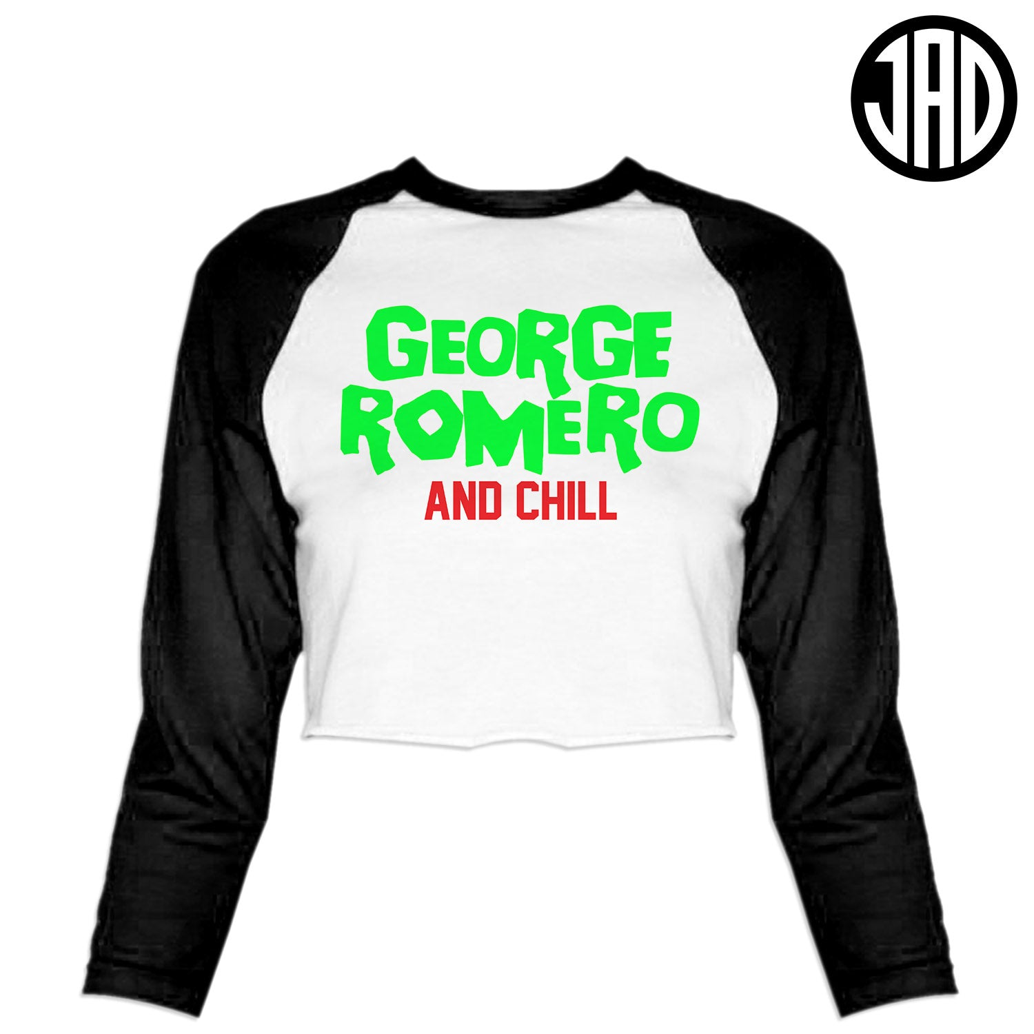 Romero & Chill - Women's Cropped Baseball Tee