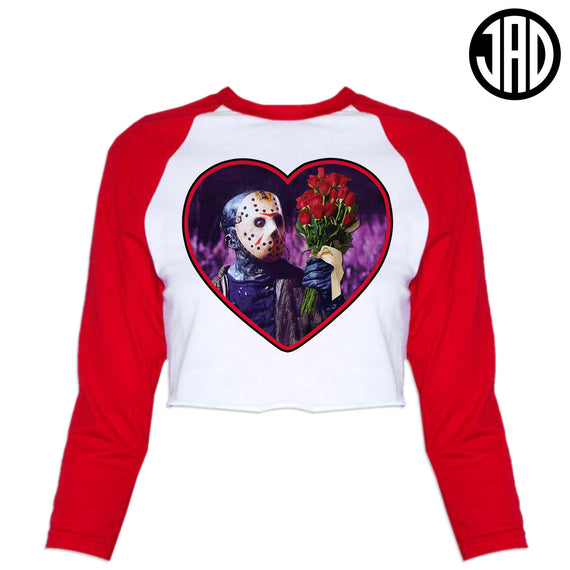 Roses are Red, You are Dead - Women's Cropped Baseball Tee