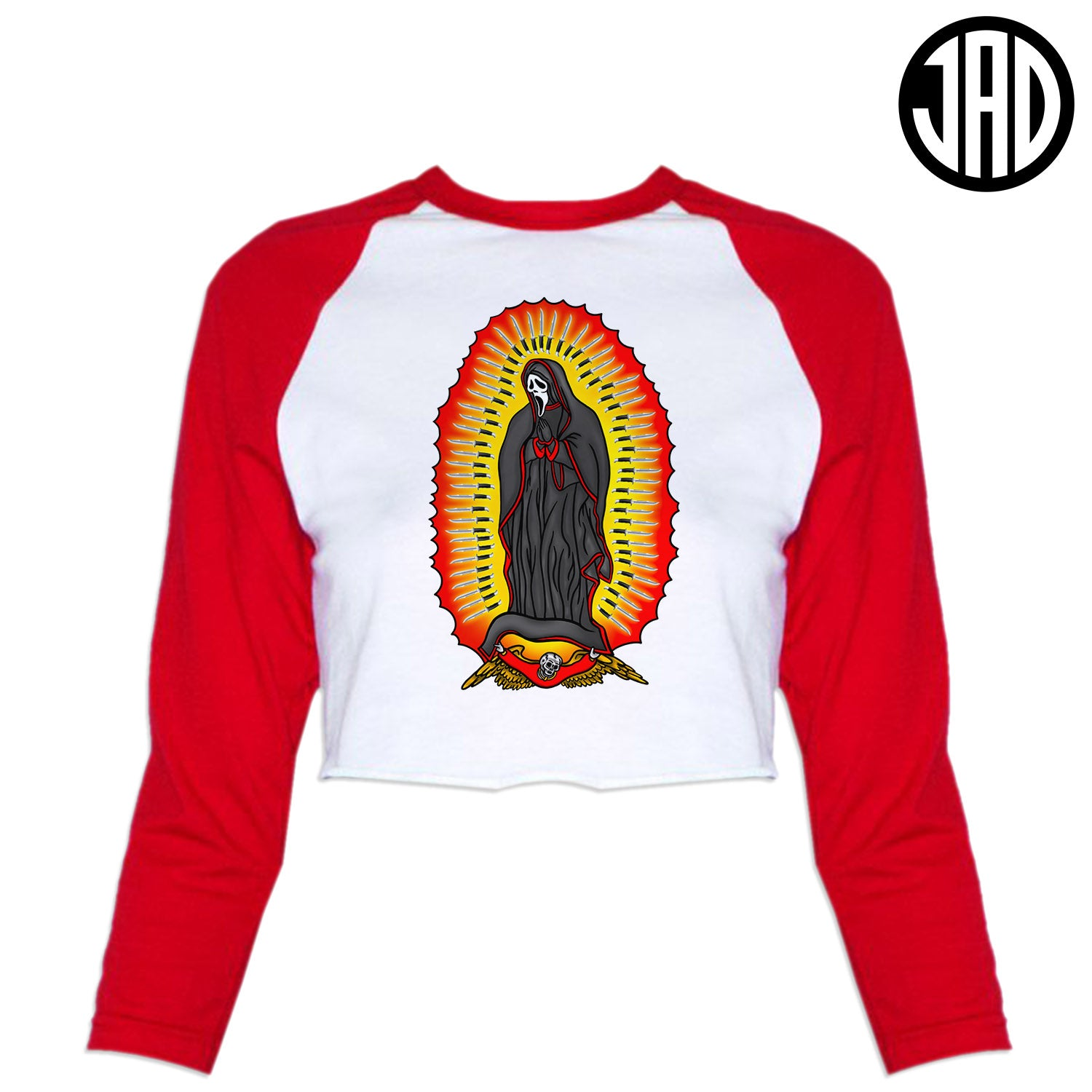 Saint Of Woodsboro 2 - Women's Cropped Baseball Tee