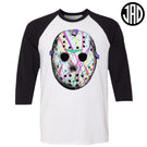 Splatter Wave Mask - Men's (Unisex) Baseball Tee