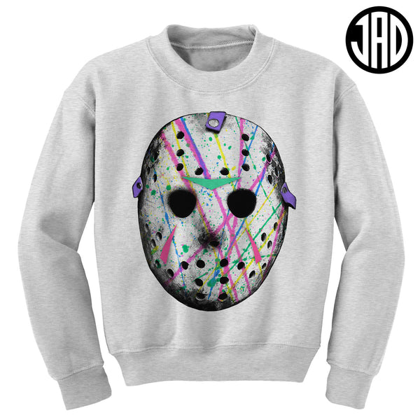 Splatter Wave Mask - Mens (Unisex) Crewneck Sweater