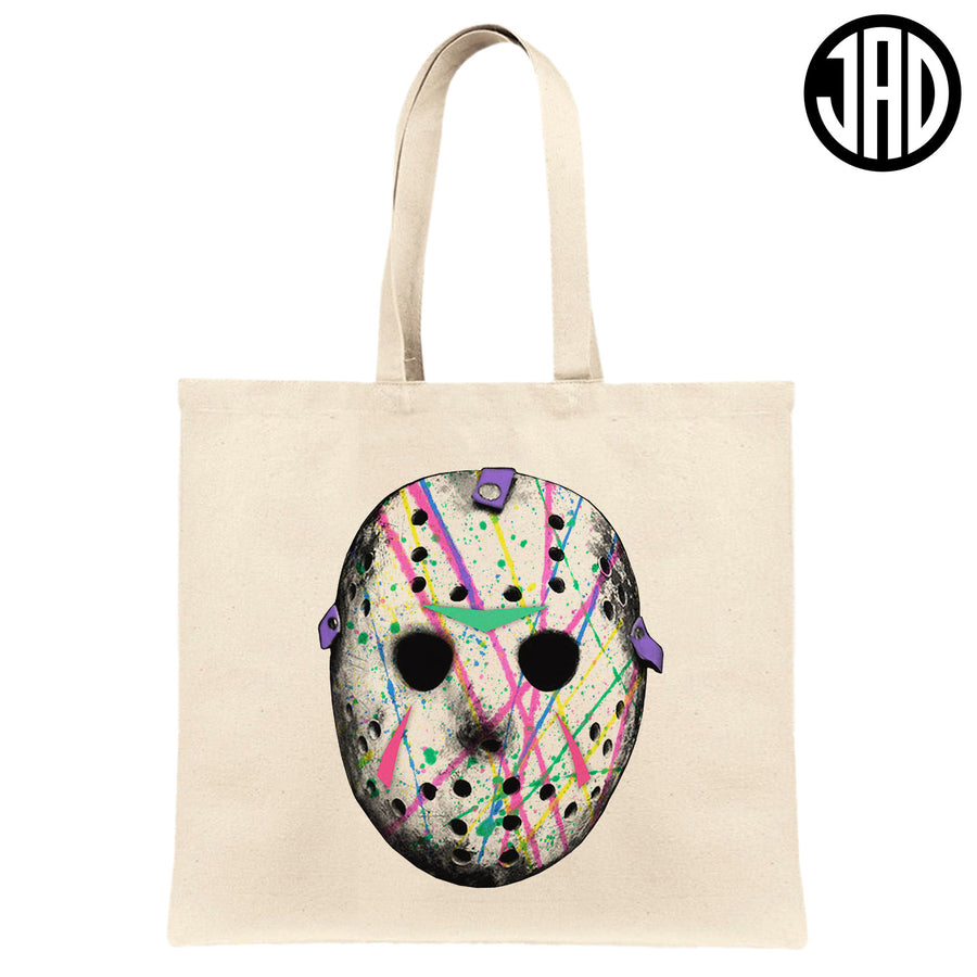 Splatter Wave Mask - Canvas Tote Bag