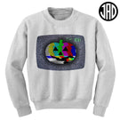 Static Pumpkin - Mens (Unisex) Crewneck Sweater