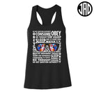 Stay Asleep - Women's Racerback Tank