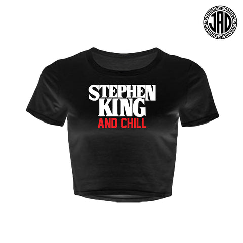 Stephen King And Chill - Women's Crop Top