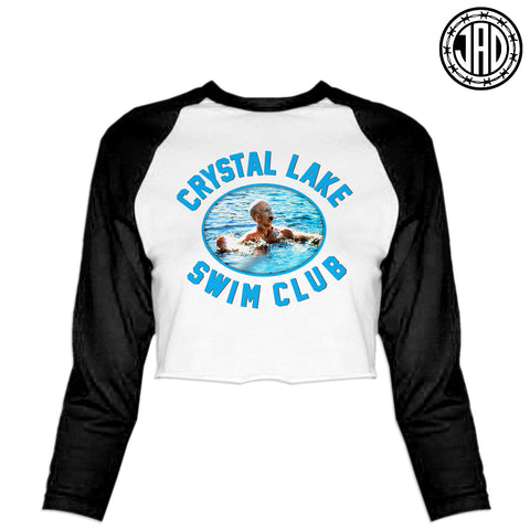 Crystal Lake Swim Club - Women's Cropped Baseball Tee