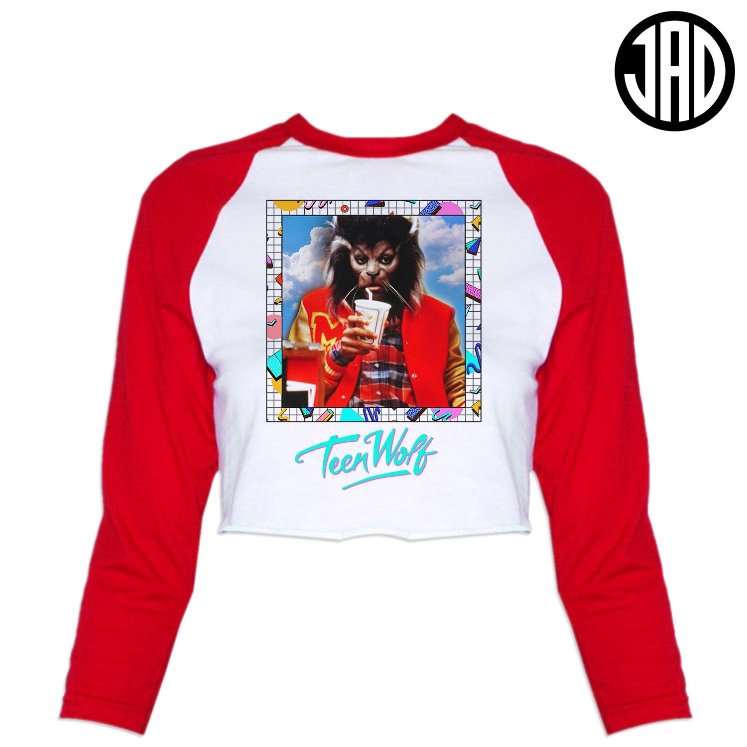 Teenage Wolf - Women's Cropped Baseball Tee