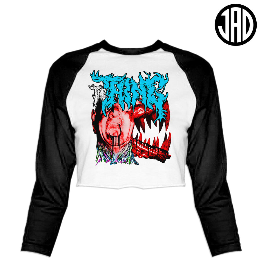 The Thing Metal - Women's Cropped Baseball Tee