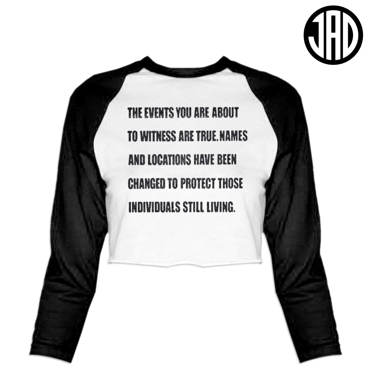 True Events - Women's Cropped Baseball Tee