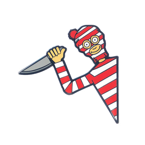 Where's Wally Lurkin?  - Enamel Pin