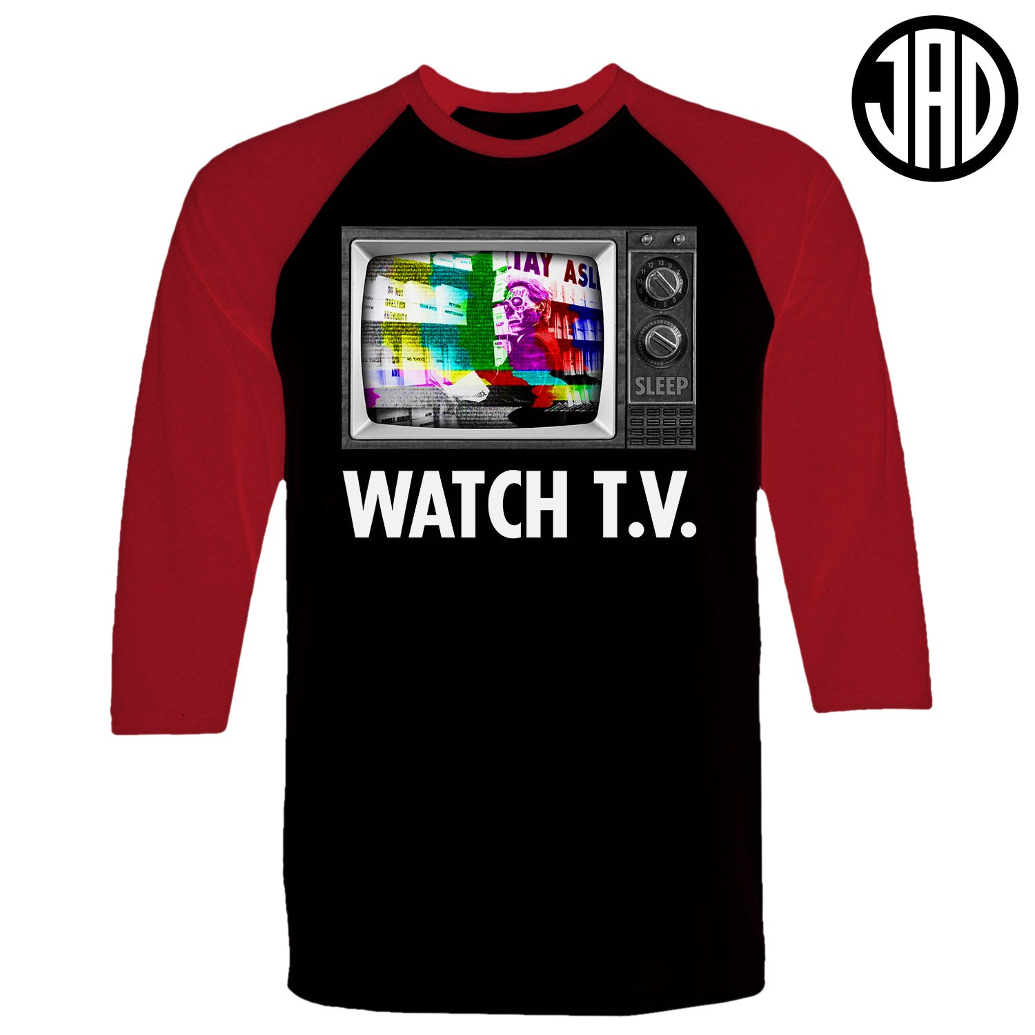 Watch TV - Men's Baseball Tee