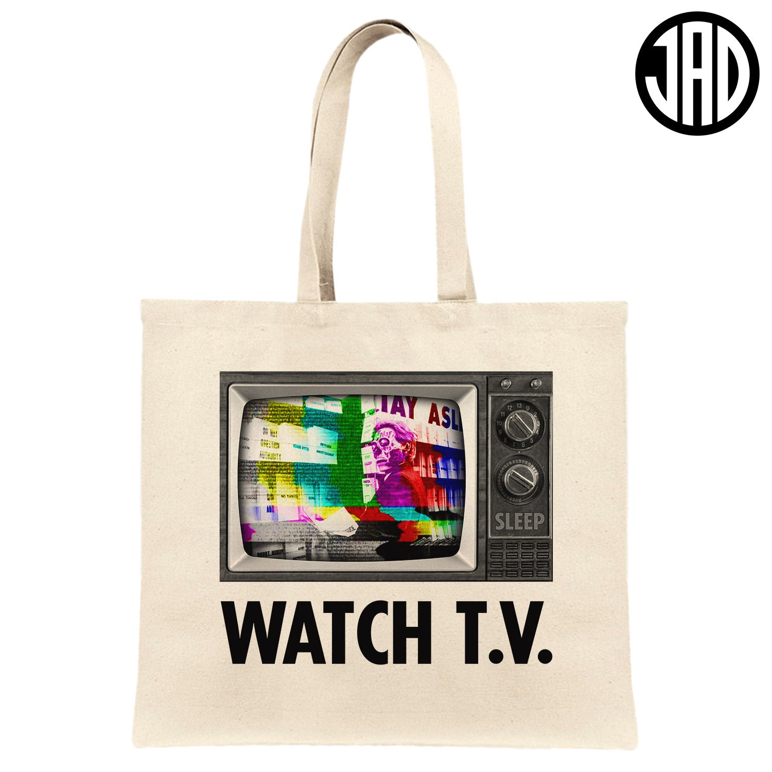 Watch TV - Canvas Tote Bag