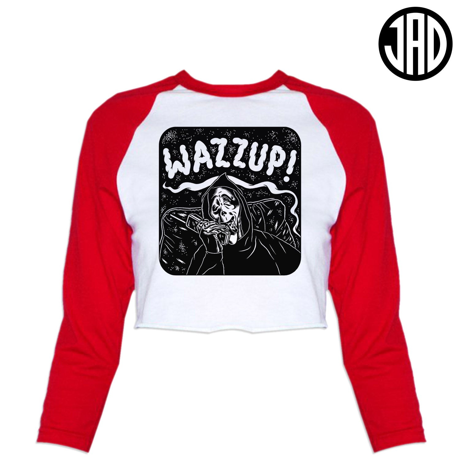 Wazzup - Women's Cropped Baseball Tee