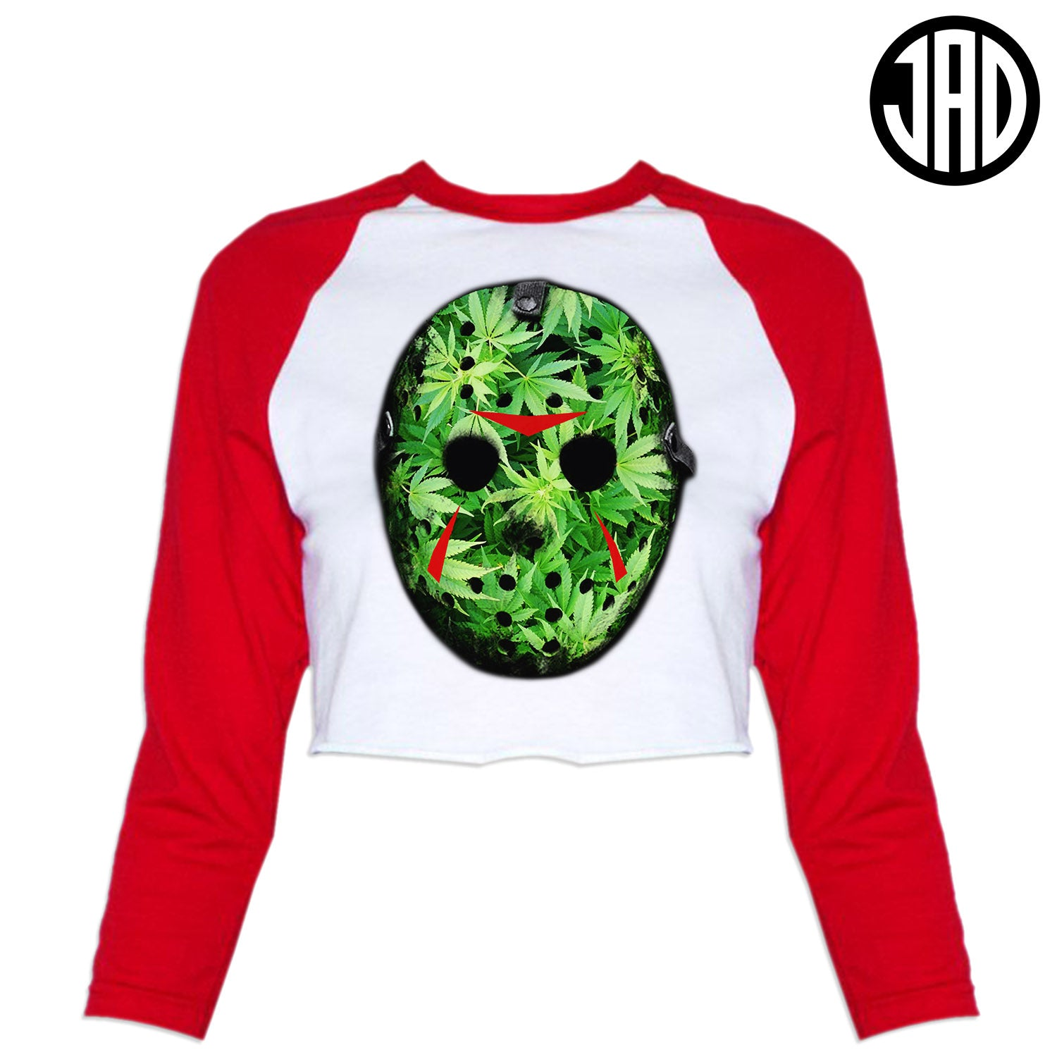 Weed Mask - Women's Cropped Baseball Tee