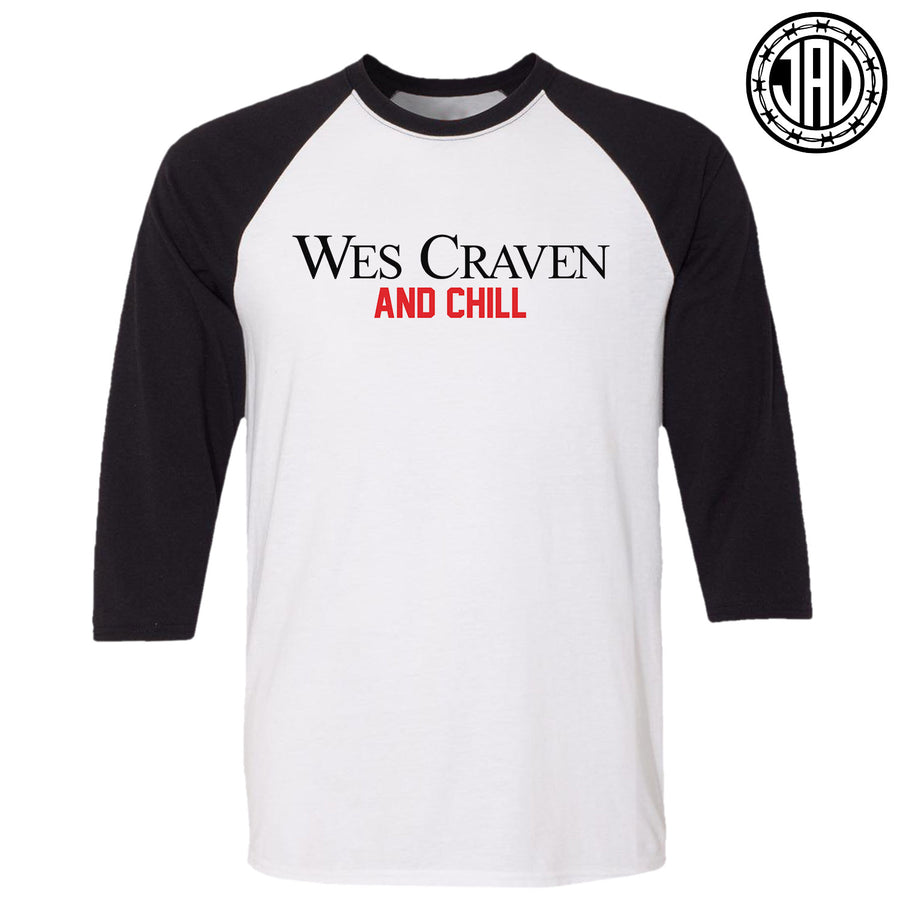 Wes Craven & Chill - Men's (Unisex) Baseball Tee