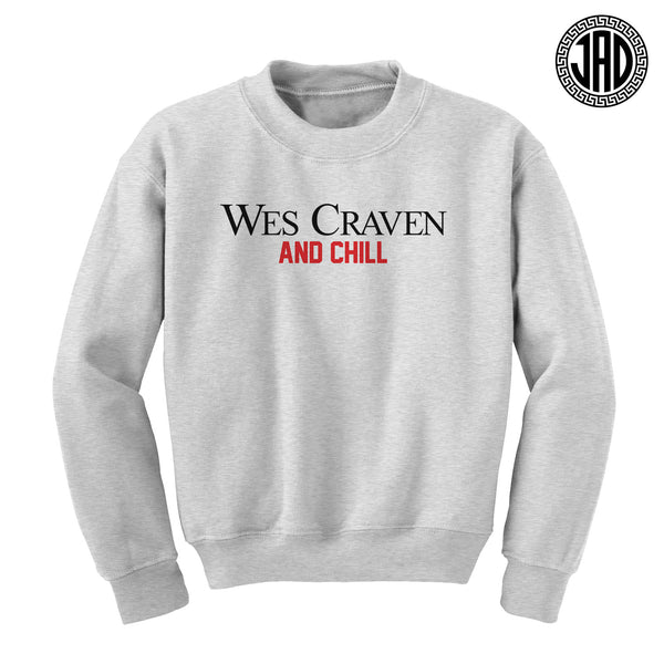 Wes Craven And Chill - Mens (Unisex) Crewneck Sweater