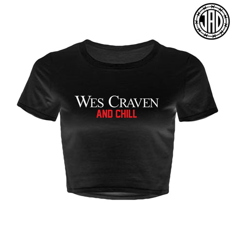 Wes Craven And Chill - Women's Crop Top