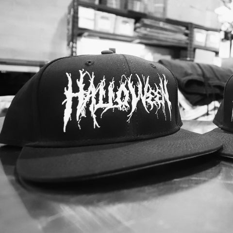 Halloween Metal - White on Black - Snapback Hat