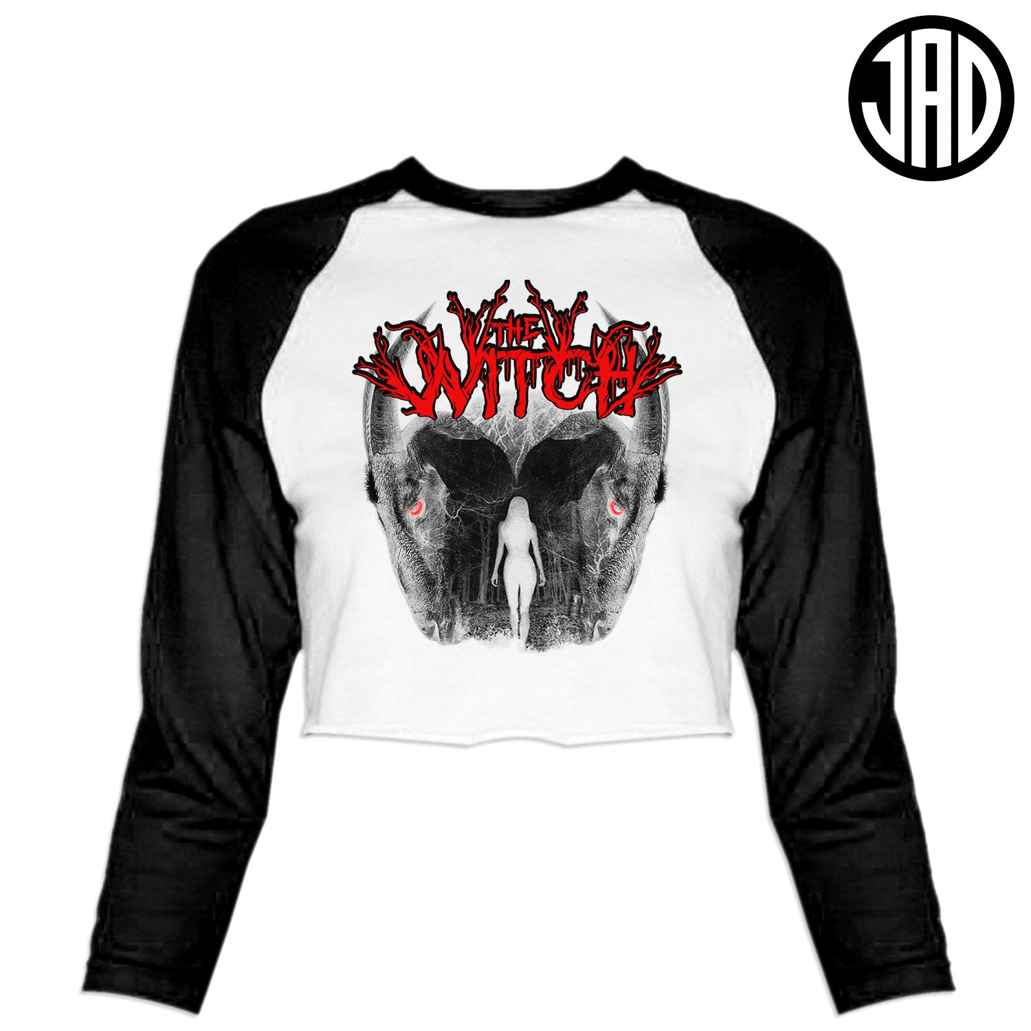 Witch Metal - Women's Cropped Baseball Tee