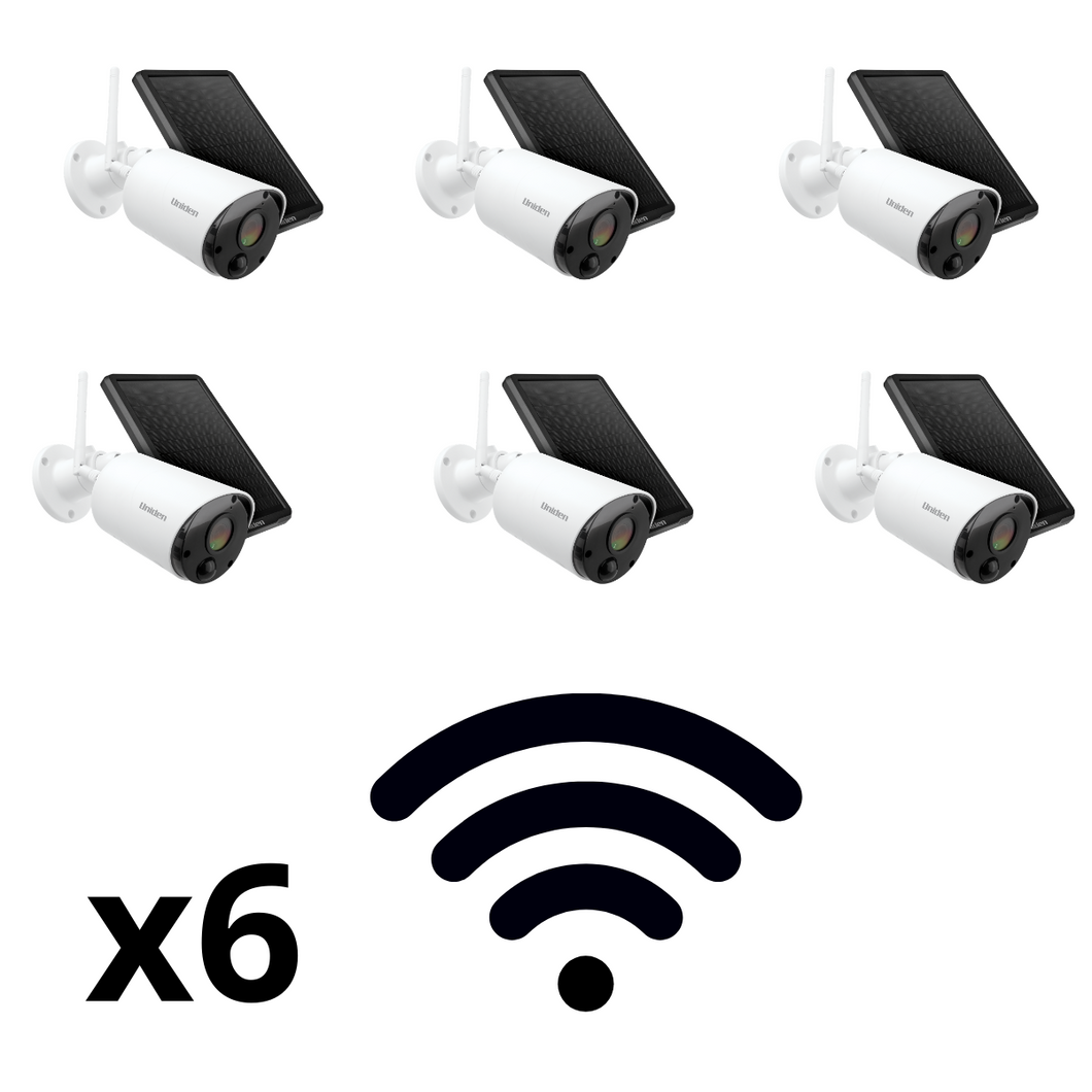 Pack of 6x WiFi Cameras