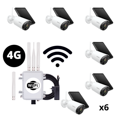 Outdoor 4G WiFi Hotspot and 6x WiFi Cam Pack