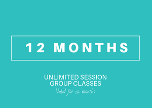 12 month Unlimited (Group Yoga-Fitness-Dance)