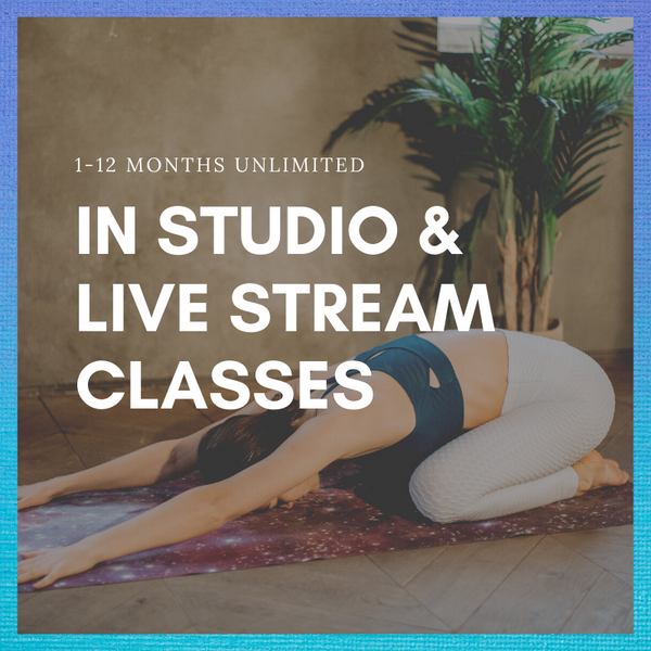 1-12 months Unlimited Classes ( In Studio & Live Stream)