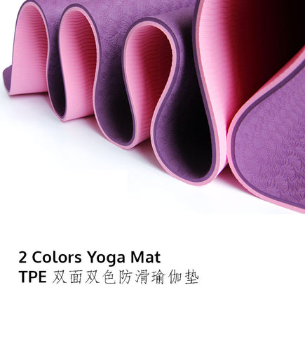 TPE 2 Colors Yoga Mat