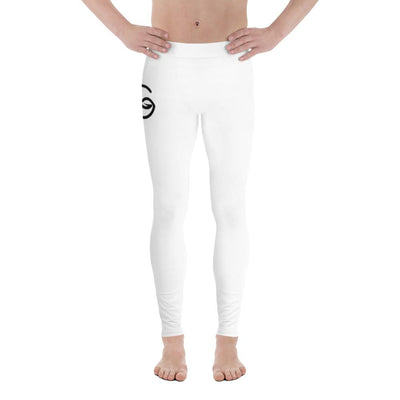 Mens Leggings  in White Color - Fitness Leggings - Workout Apparel