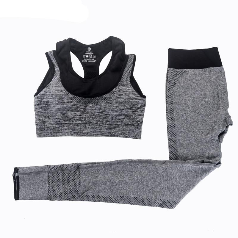 Womens Yoga Bra and Pants Set