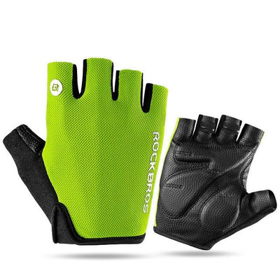ROCKBROS Cycling Gloves Half Finger Bike Gloves Shockproof Breathable MTB Mountain Bicycle Gloves Men Sports Cycling Clothings - Grovit