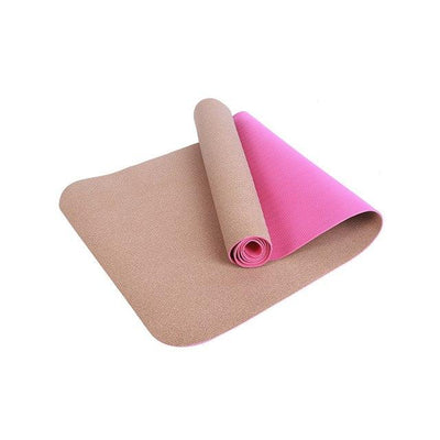 Non-Slip Natural TPE+Cork Yoga Mat Grovit
