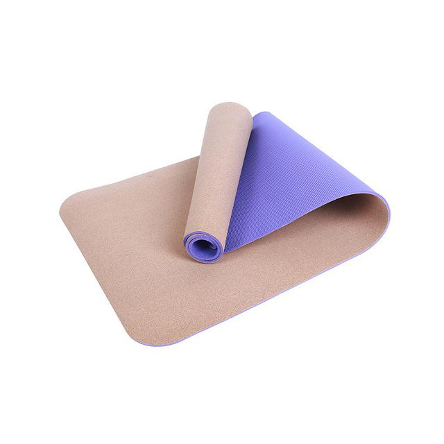 Non-Slip Natural TPE+Cork Yoga Mat