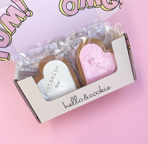 Custom Text Full Size Cookies - Wholesale $3.45 +GST