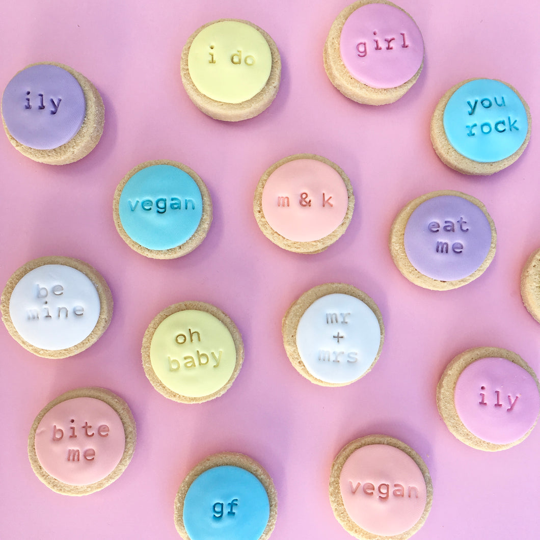 Small Custom Text Cookies (Box of 20)