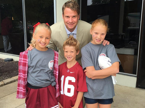 Lane Kiffin with his children.