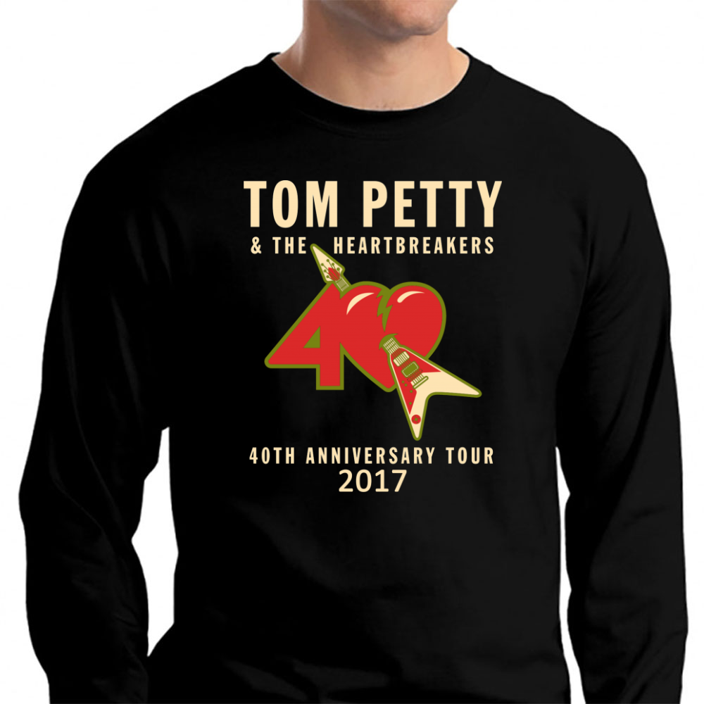 40th Anniversary Tour Tom Petty Long Sleeve T-Shirt