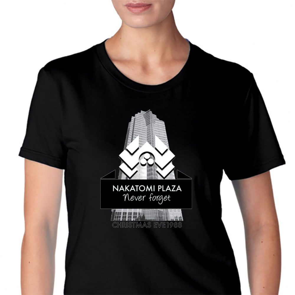 never forget nakatomi plaza christmas eve 1988 womens t shirt