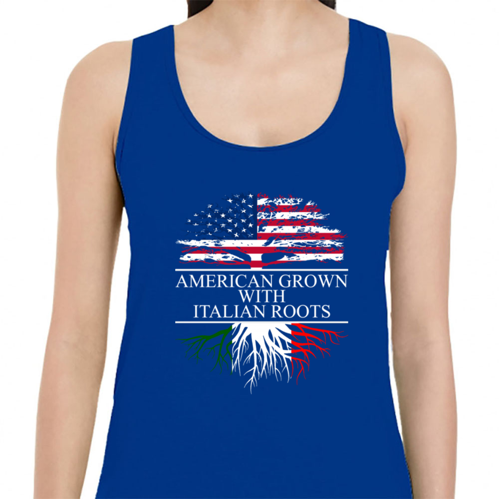 American Grown With Italian Roots Shirt Womens Tank Top