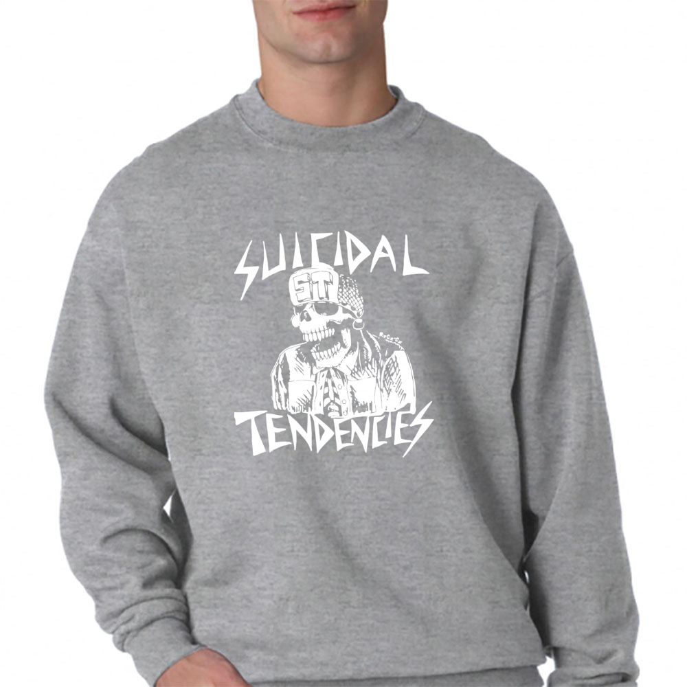 Suicidal Tendencies Crewneck Sweatshirt Grab Tee Inc Tshirt Monday To Long Navy S