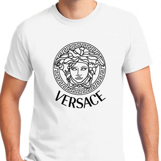 Vc Versace Black Logo - Mens T-Shirt