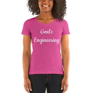 Ladies' God's Engineering Short Sleeve t-shirt