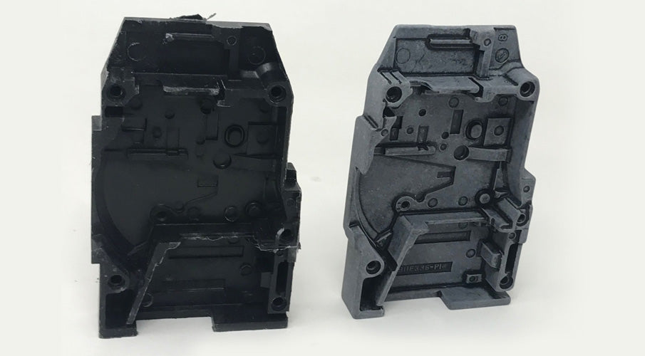 Before and After: Glass Filled Thermoset Plastic Molded Parts