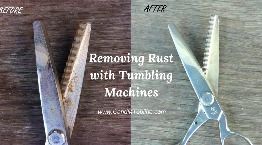 Removing Rust with Vibratory Tumbling Machines