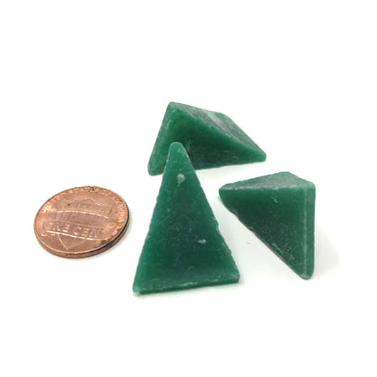 Wedge 1 X 3/4 X Green Plastic Media, 50 lbs